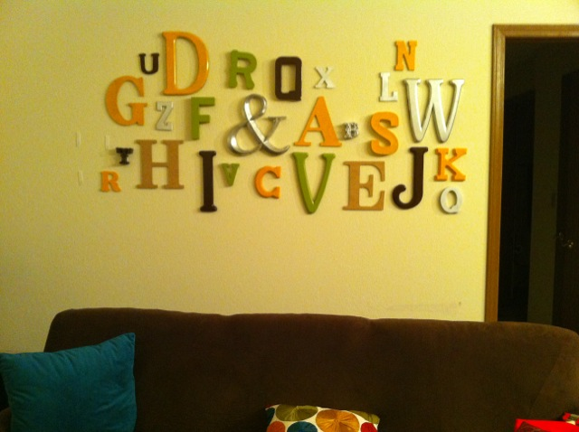 diy typography letters wall room