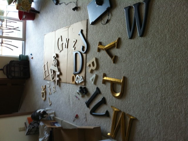 typography themed room