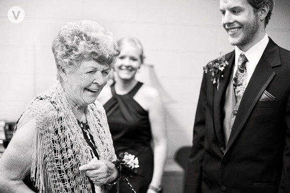 great grandma at our wedding