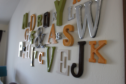 finished typography wall